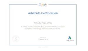 swarup ghatak google adwords certificate